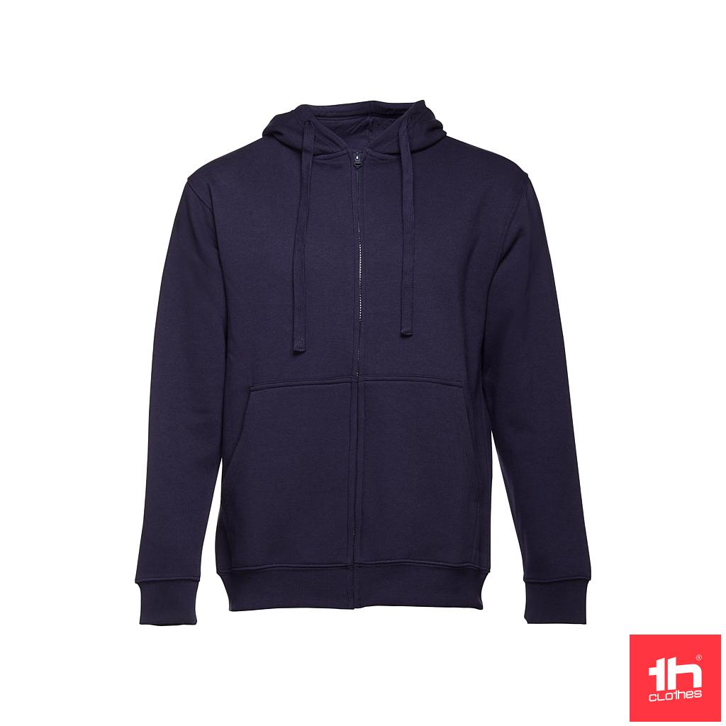 Sweatshirt com fecho e capuz para homem
