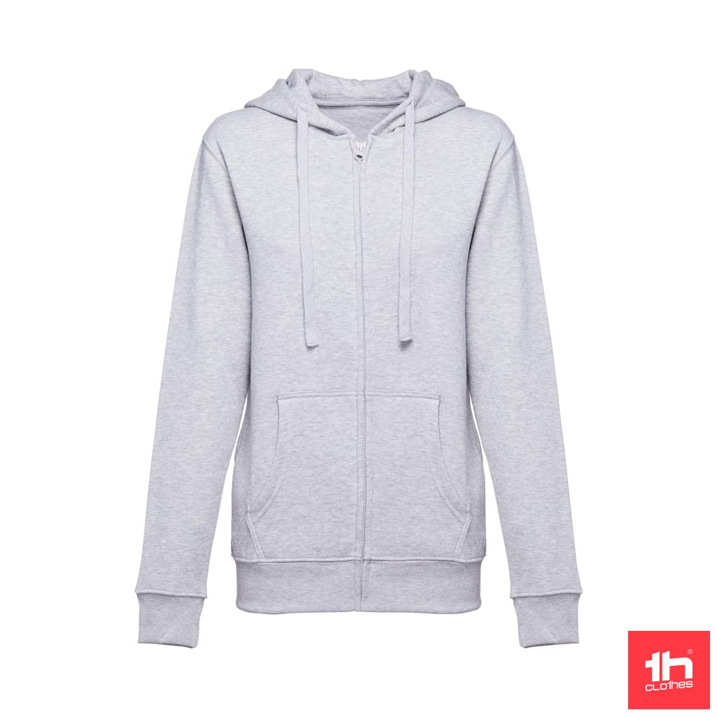 Sweatshirt com fecho e capuz para senhora