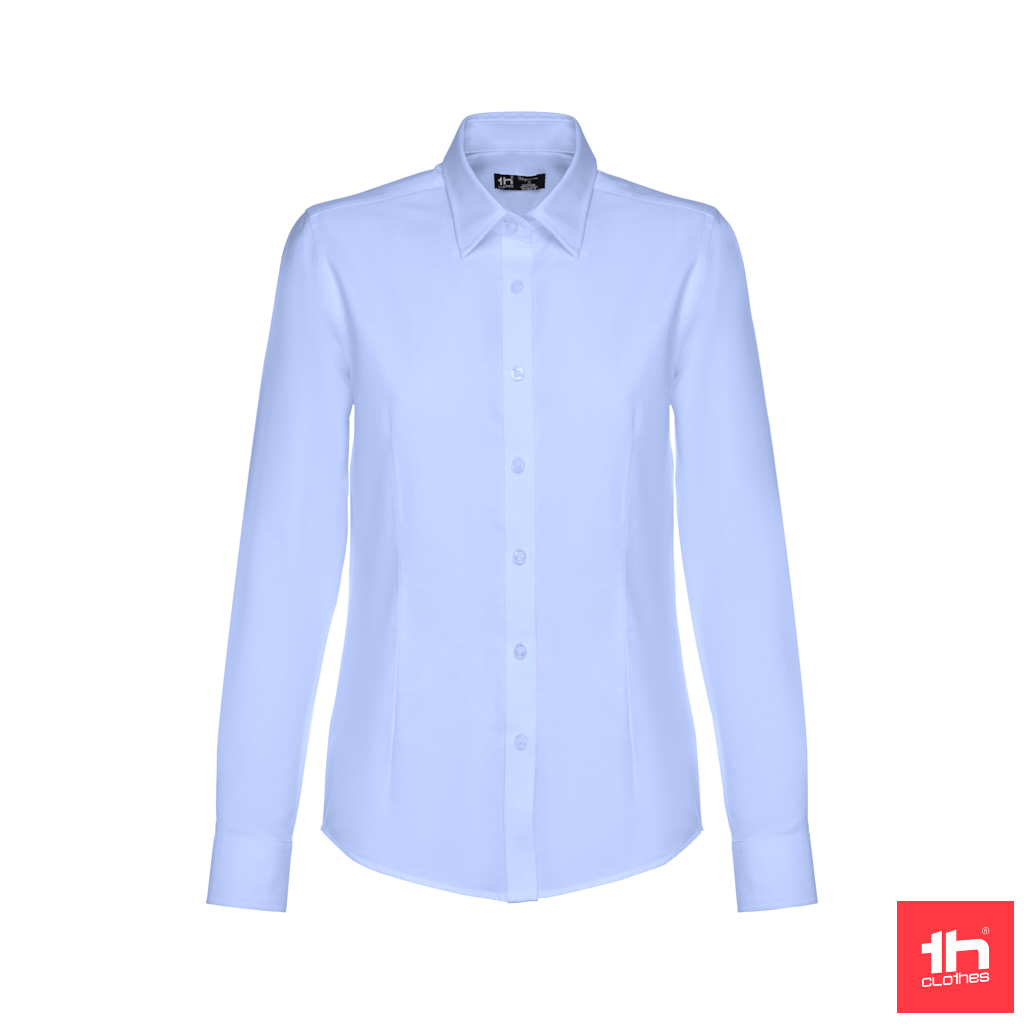 Camisa oxford de manga comprida para senhora