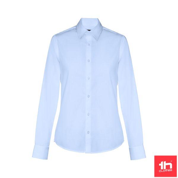 Camisa popelina de manga comprida para senhora