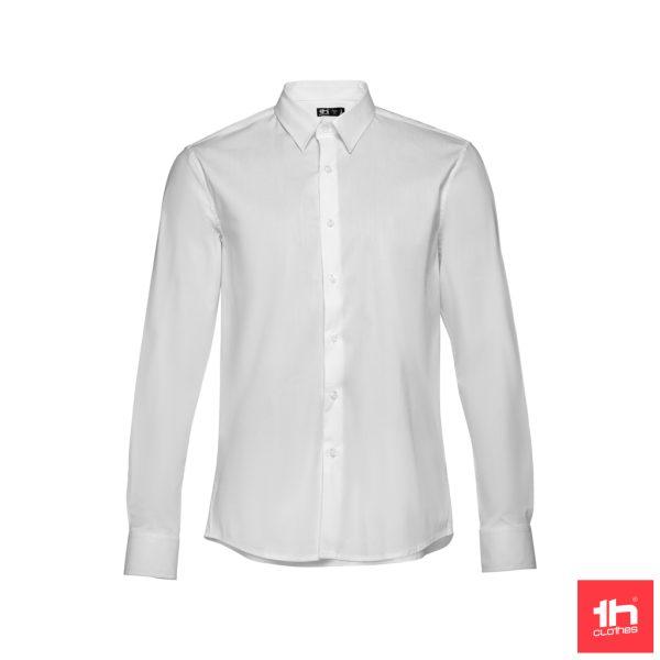 Camisa popelina de manga comprida para homem