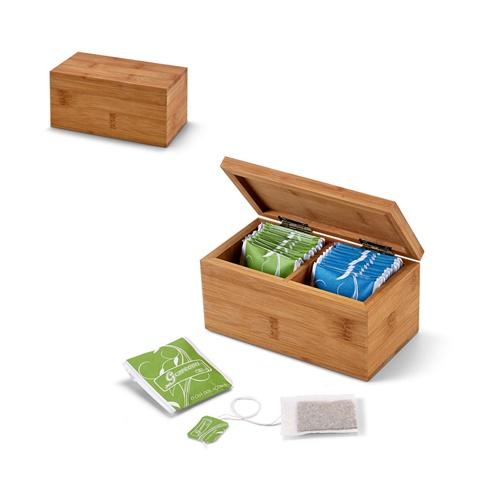 Caixa de chás em bambu BURDOCK